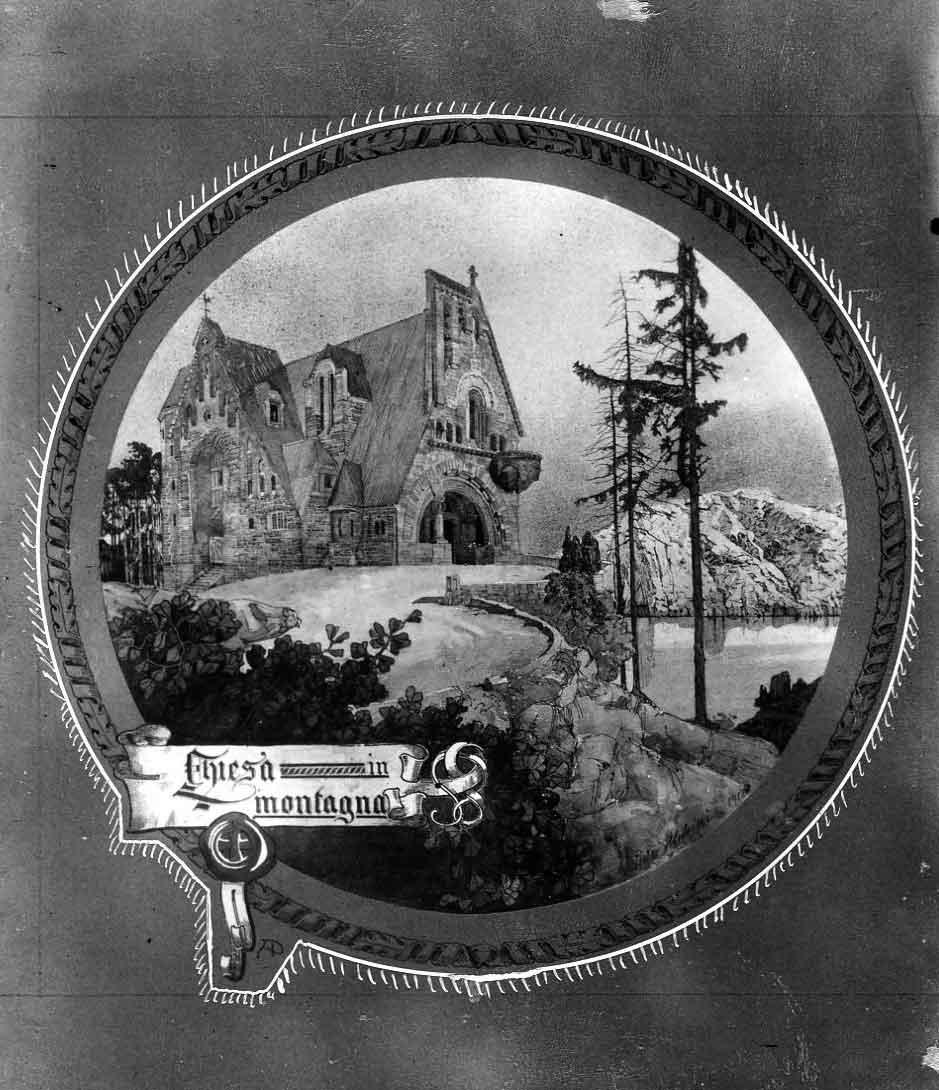 Progetto di concorso per una chiesa di montagna