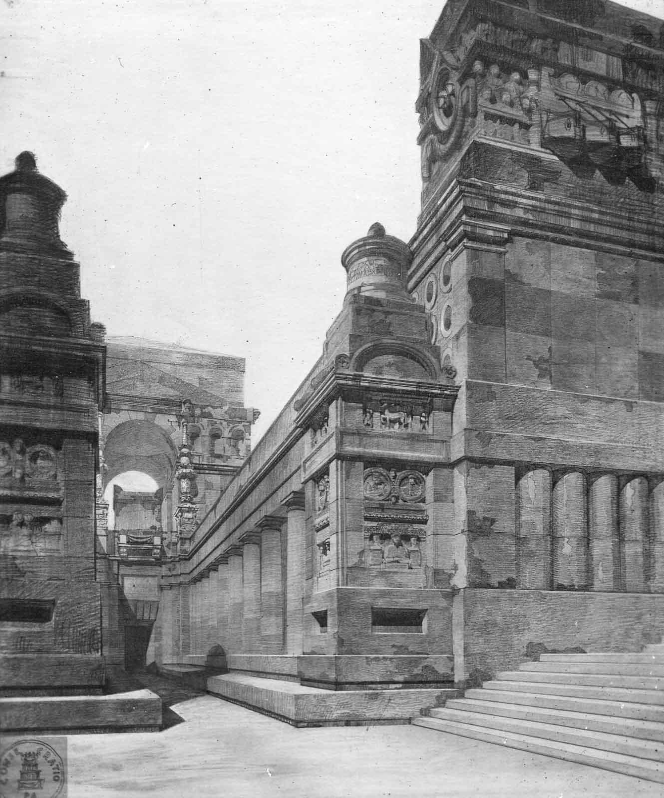 Progetto di concorso per il monumento-ossario ai caduti romani al Cimitero del Verano, Roma