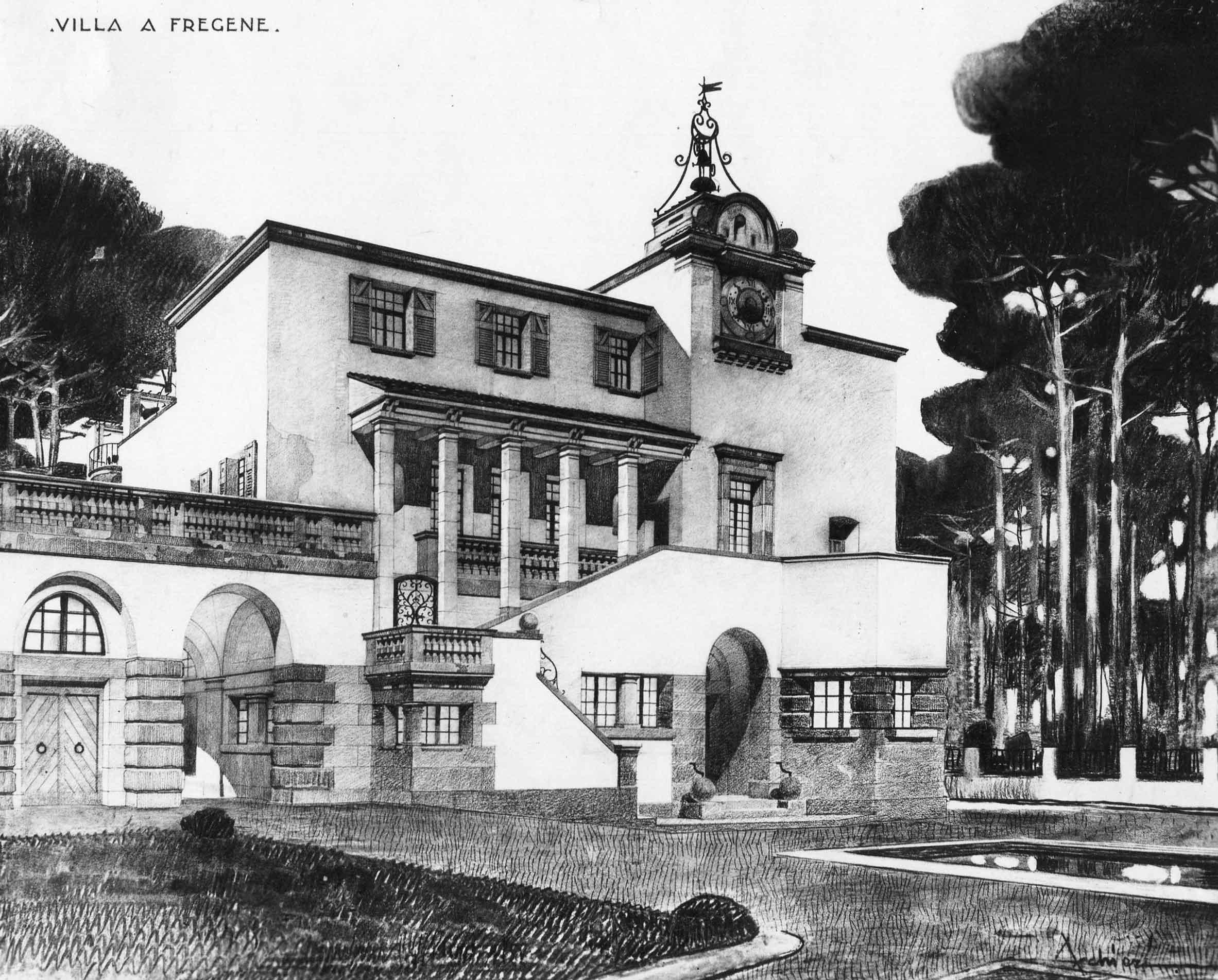 Progetto per una villa a Fregene (Roma)