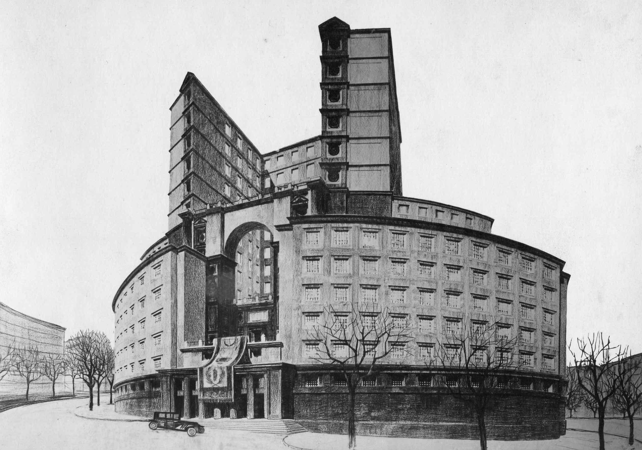 Progetto di concorso per il Palazzo delle Corporazioni a Roma