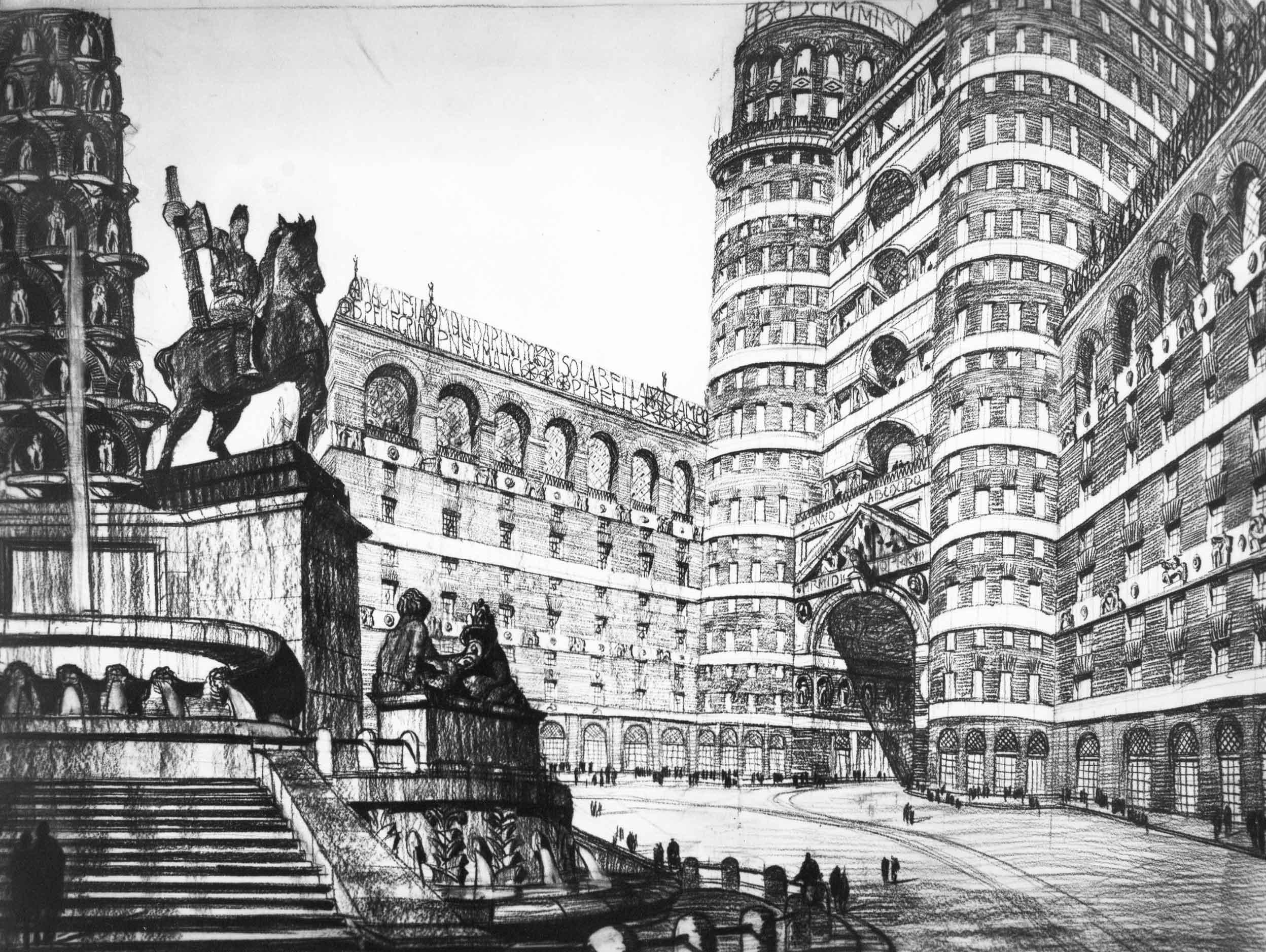 Progetto di concorso per il Piano regolatore di Milano
