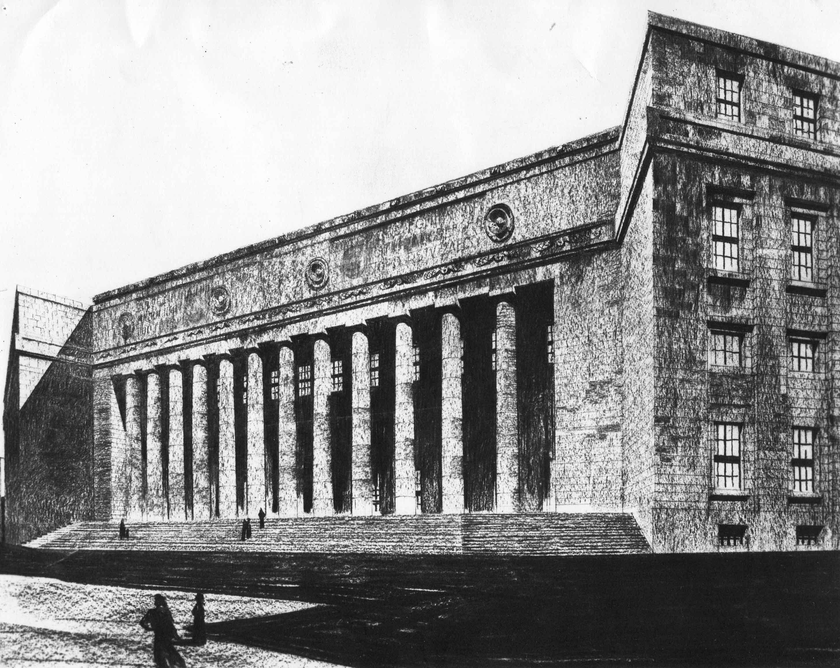 Progetto di concorso per il Palazzo delle Poste a Napoli
