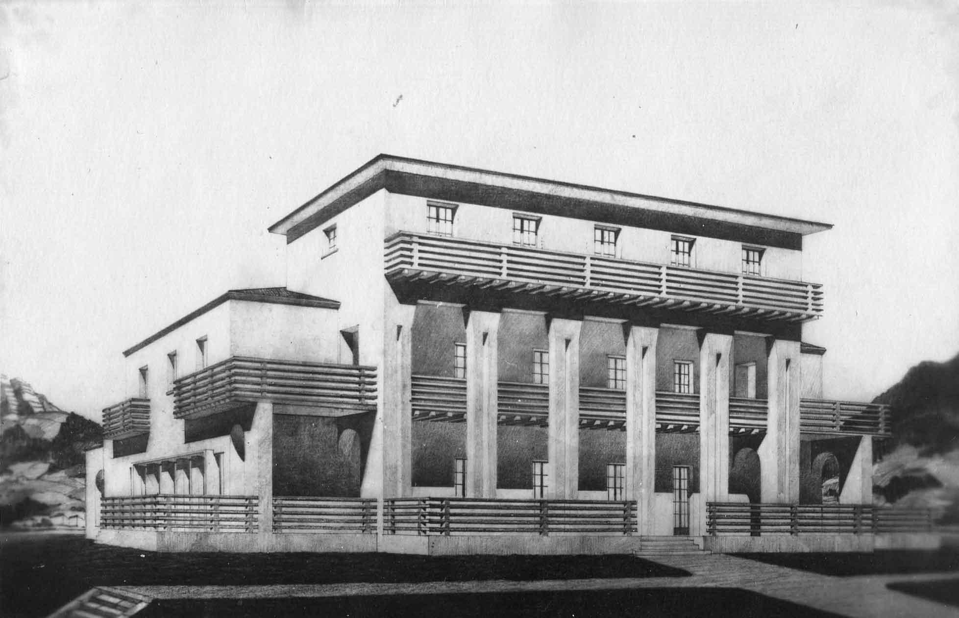 Progetto per villa Marzotto a Valdagno (Vicenza)