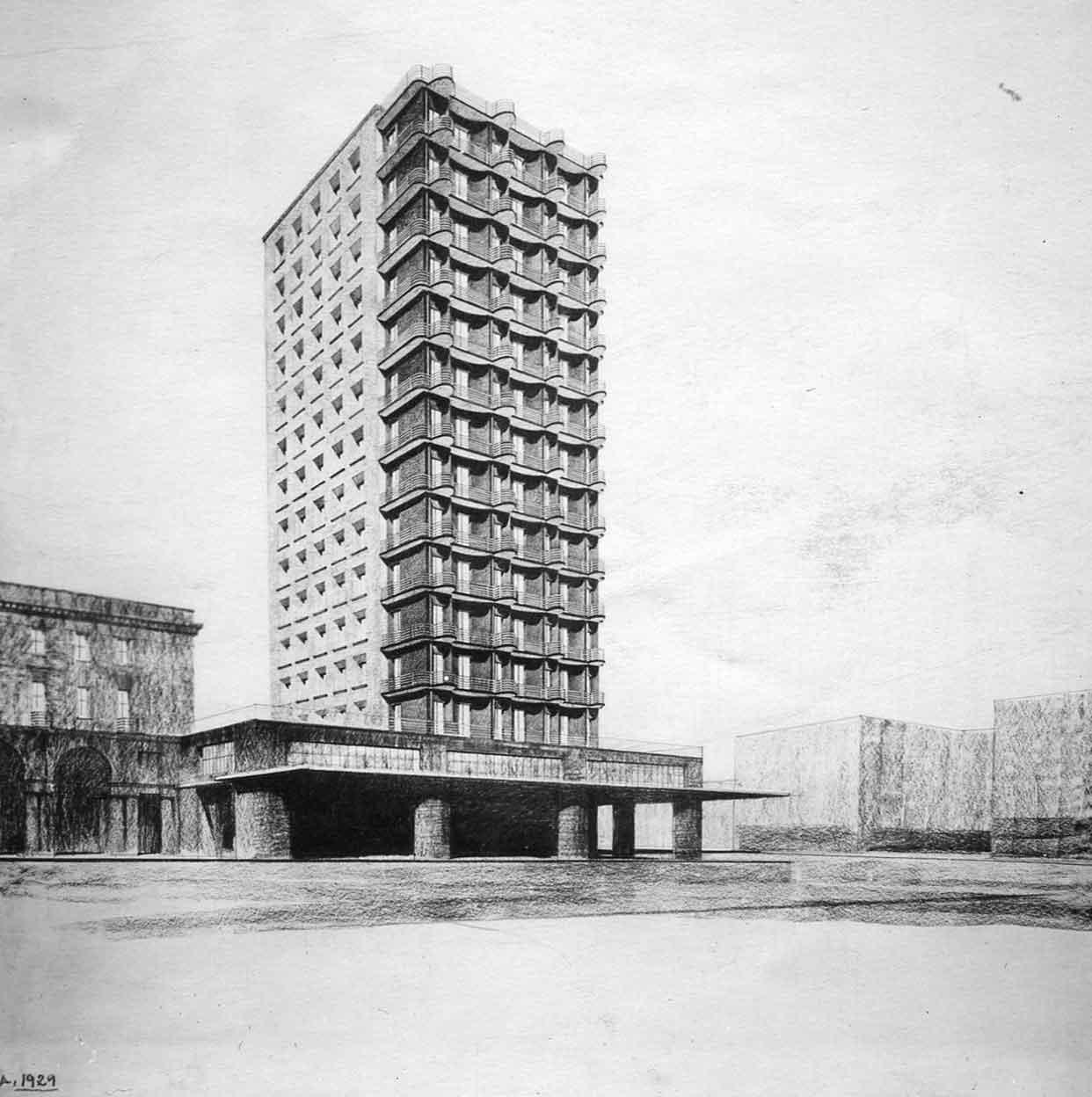 Progetto per un grattacielo a Brescia