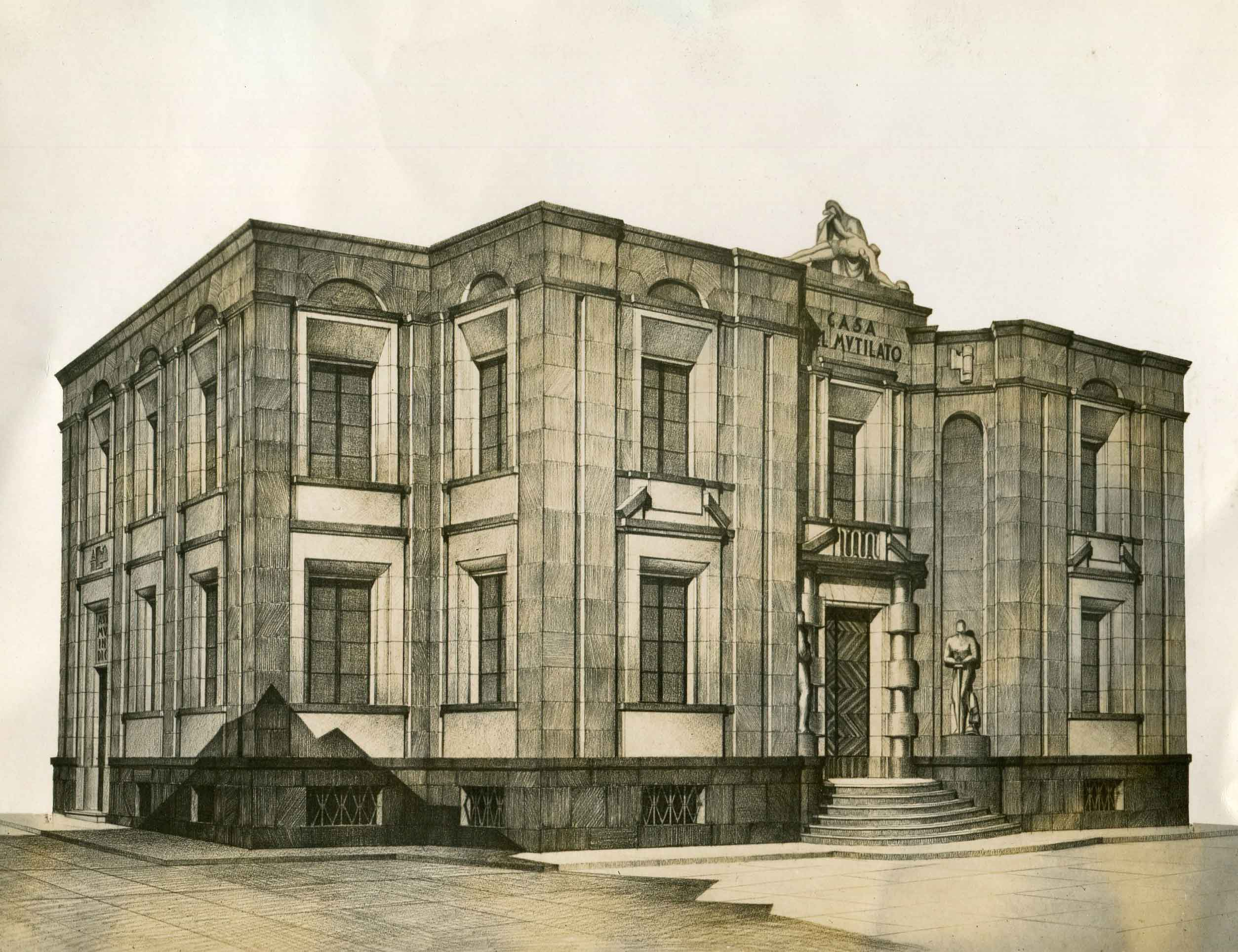 Progetto di concorso per la Casa del mutilato a Verona