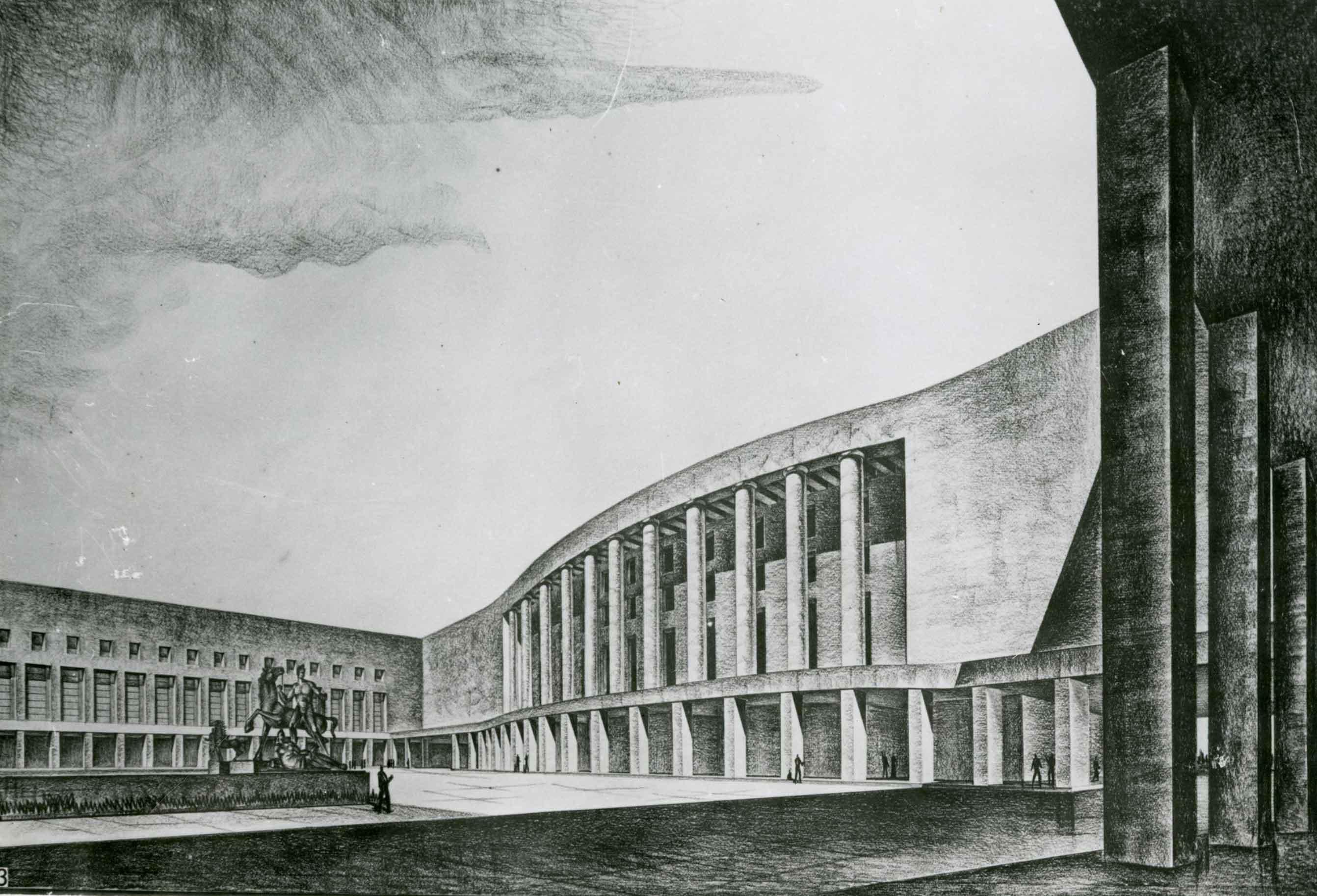 Progetto di concorso per la Piazza imperiale all'E42, Roma